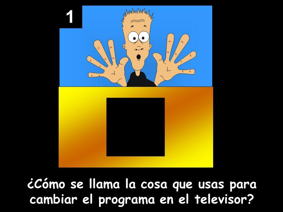 1 ¿Cómo se llama la cosa que usas para cambiar el programa en el televisor