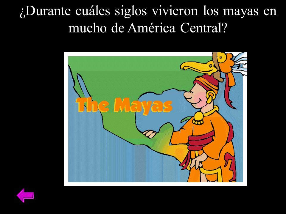 ¿Durante cuáles siglos vivieron los mayas en mucho de América Central?