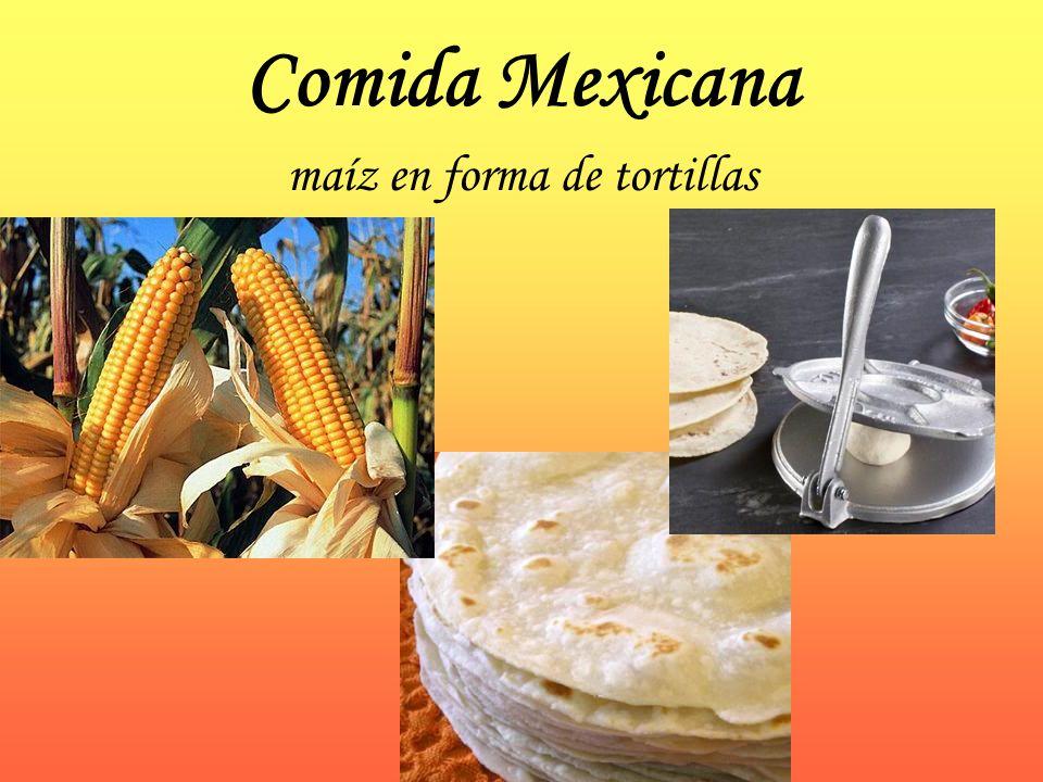 Comida Mexicana maíz en forma de tortillas