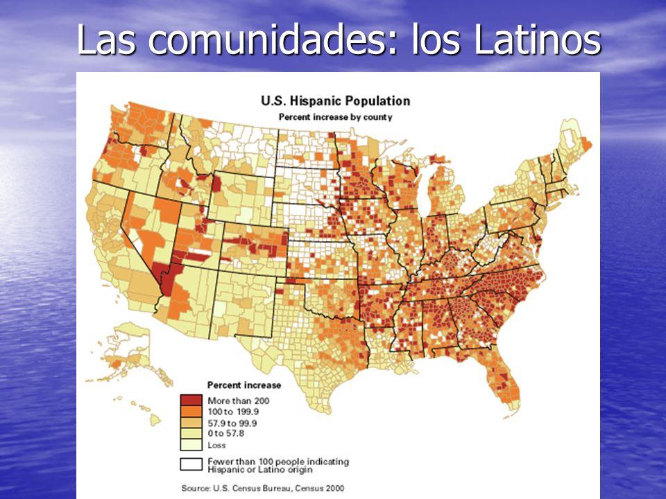 Primeras comunidades… Los españoles las fundaron desde la Florida hasta California por todo el suroeste.