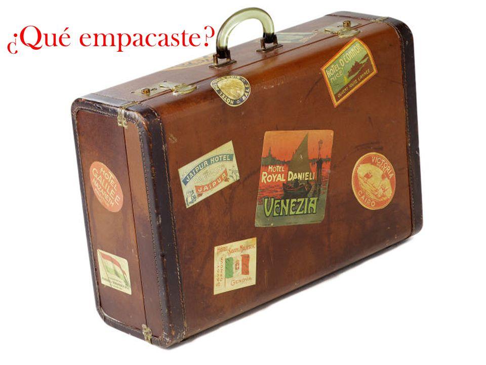 ¿Qué empacaste?