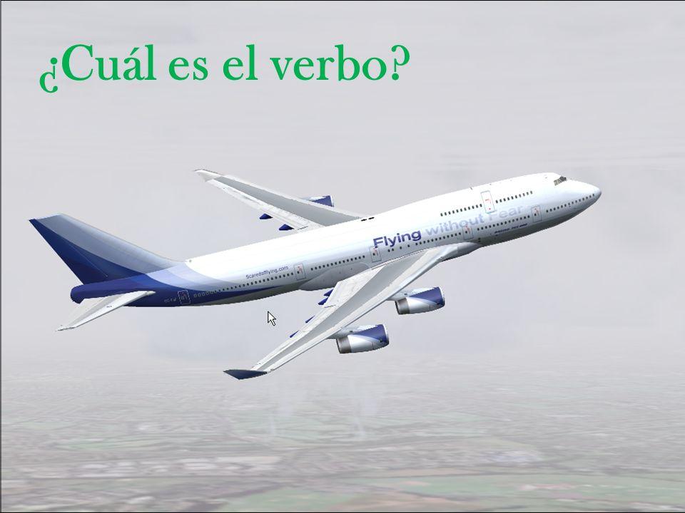 ¿Cuál es el verbo?