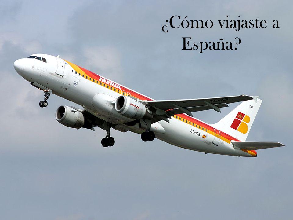 ¿Cómo viajaste a España?