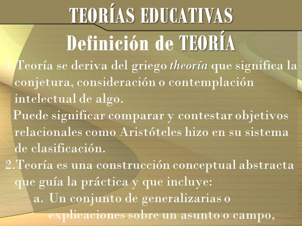 theoría 1.Teoría se deriva del griego theoría que significa la conjetura, consideración o contemplación intelectual de algo. Puede significar comparar