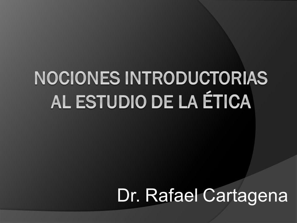 Divisiones del Estudio de la Ética A) Metaética a) Cognoscitivismo i.