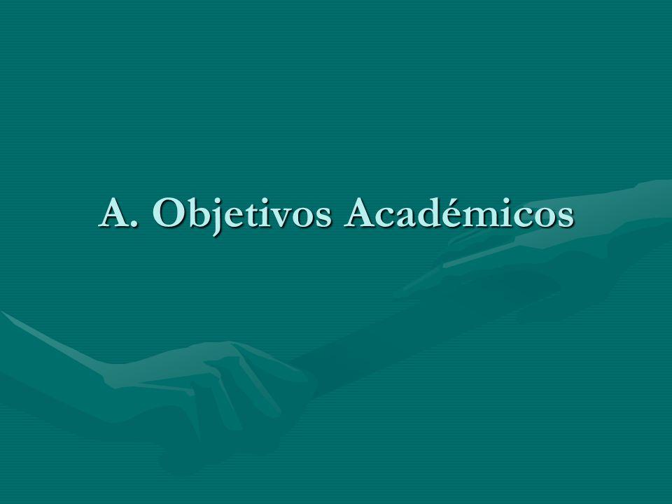 A. Objetivos Académicos