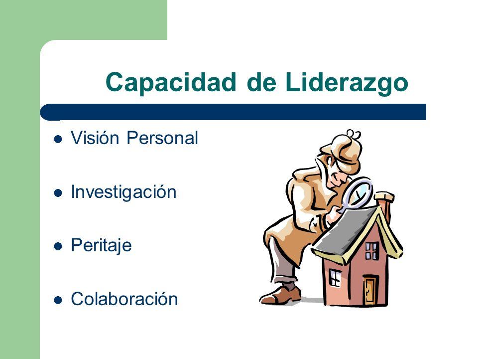 Capacidad de Liderazgo Visión Personal Investigación Peritaje Colaboración