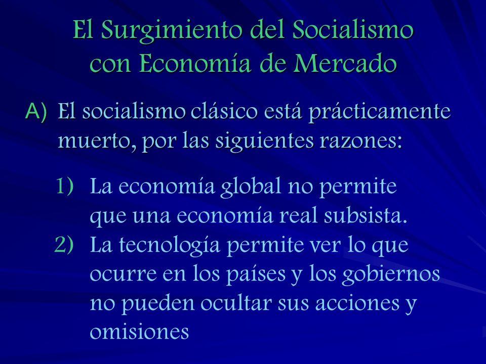 3) El fracaso de la centralización 4) El alto costo de los estados benefactores 5) El cambio en la clase trabajadora.