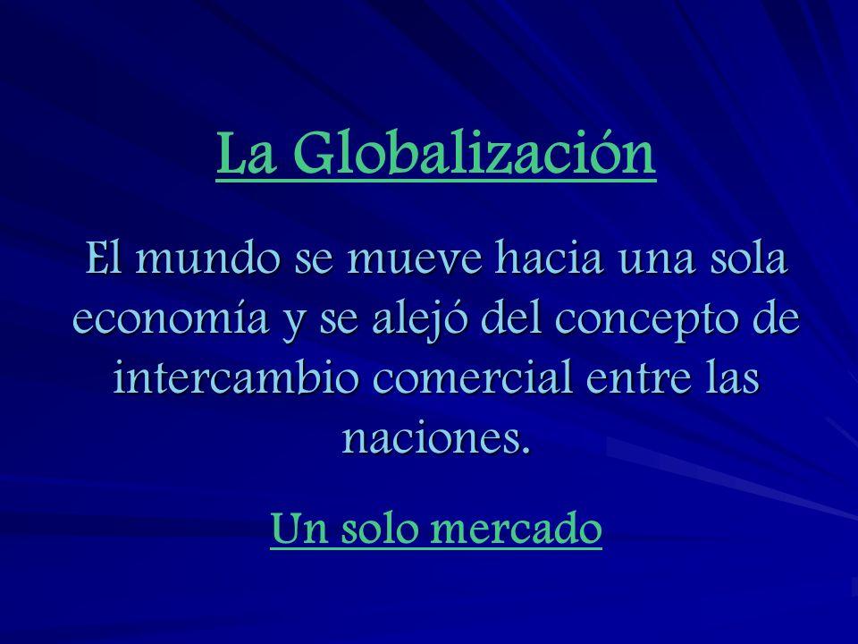 Significado de esta Globalización 1) Las consideraciones económicas son más importantes que las políticas.
