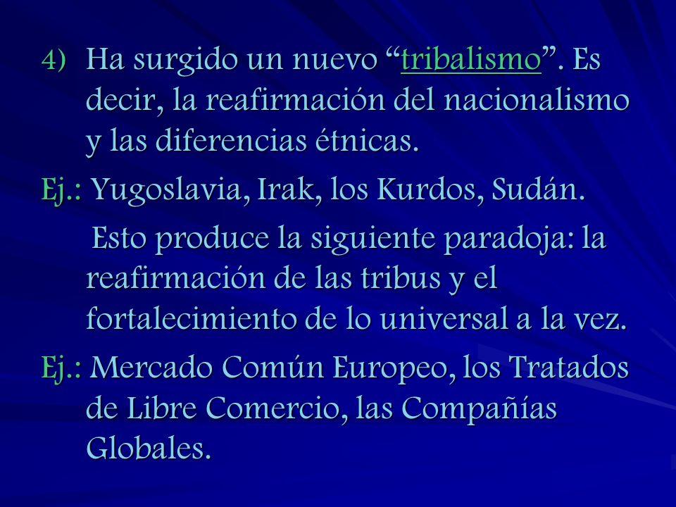 5) Los estilos globales - moda, cocina, cine, televisión publicaciones, imperialismo cultural
