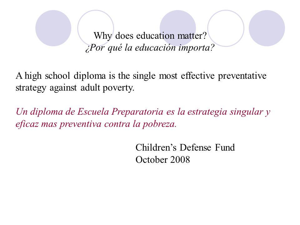 Why does education matter. ¿Por qué la educación importa.