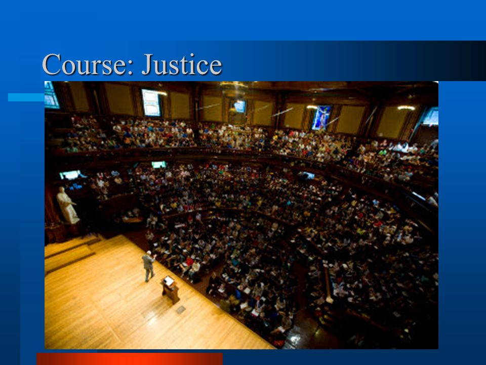 Course: Justice