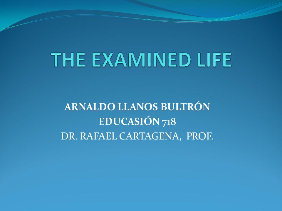 ARNALDO LLANOS BULTRÓN EDUCASIÓN 718 DR. RAFAEL CARTAGENA, PROF.