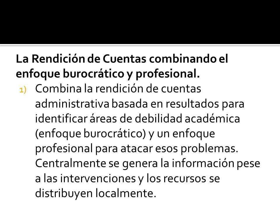 La Rendición de Cuentas combinando el enfoque burocrático y profesional.