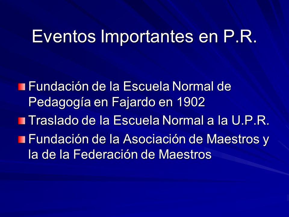 Eventos Importantes en P.R.