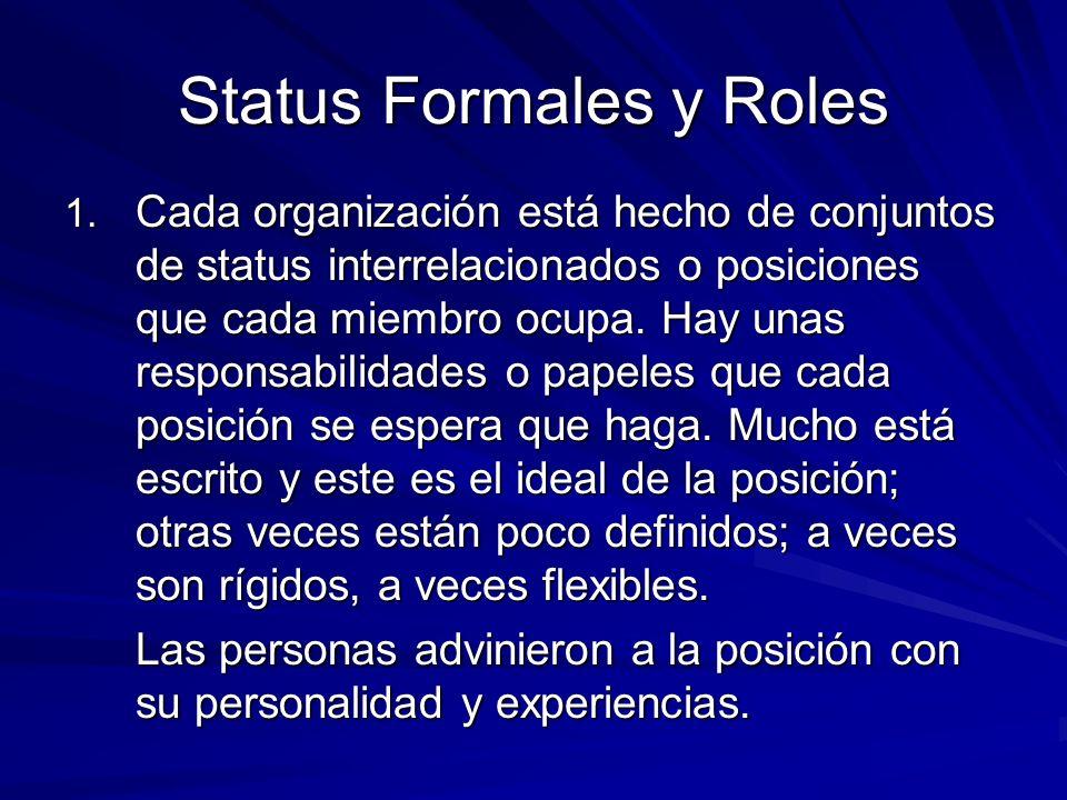 Status Formales y Roles 1.