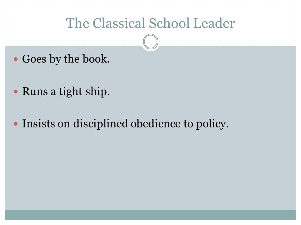 Principles of Classical Theory in Todays Schools Hierarchy Unit of Command Span of Control