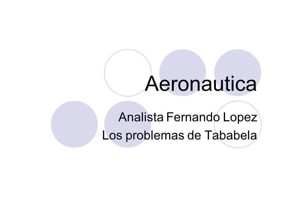 Aeronautica Analista Fernando Lopez Los problemas de Tababela