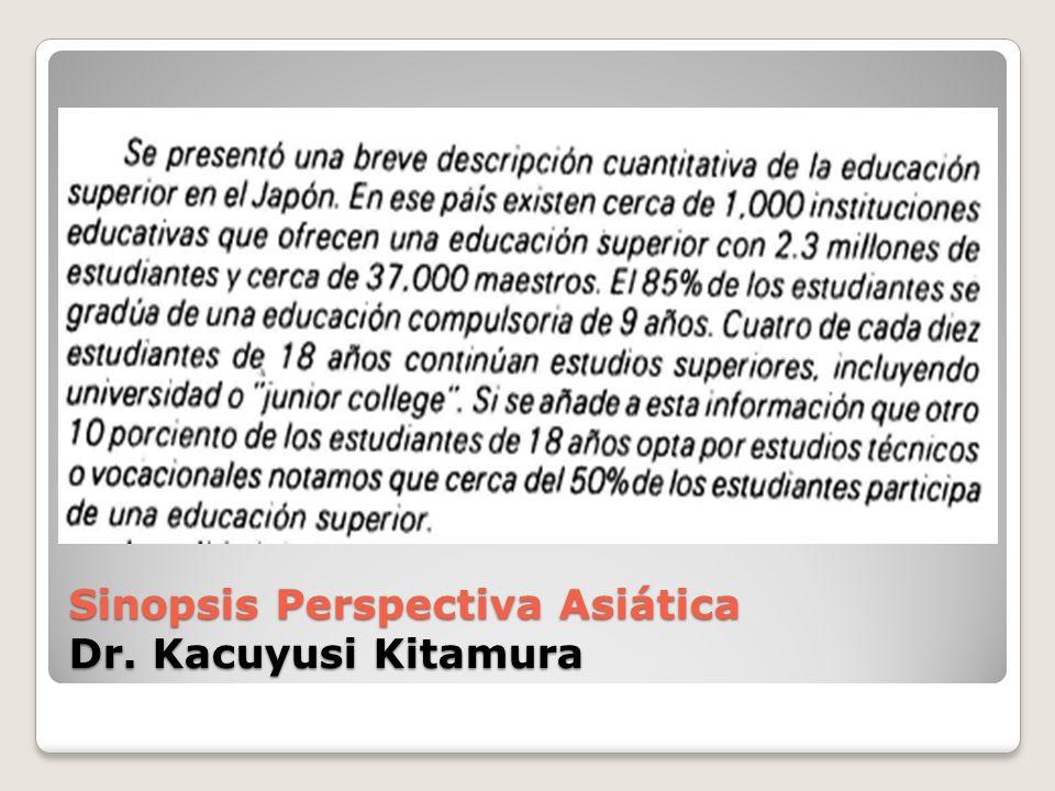 Sinopsis Perspectiva Asiática Dr. Kacuyusi Kitamura