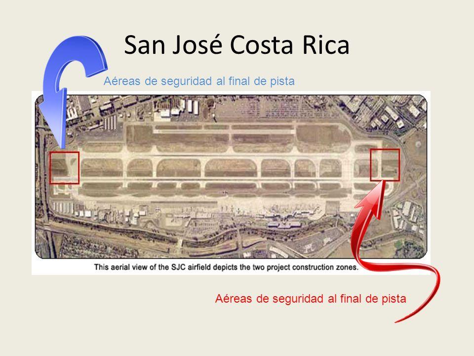 San José Costa Rica Aéreas de seguridad al final de pista
