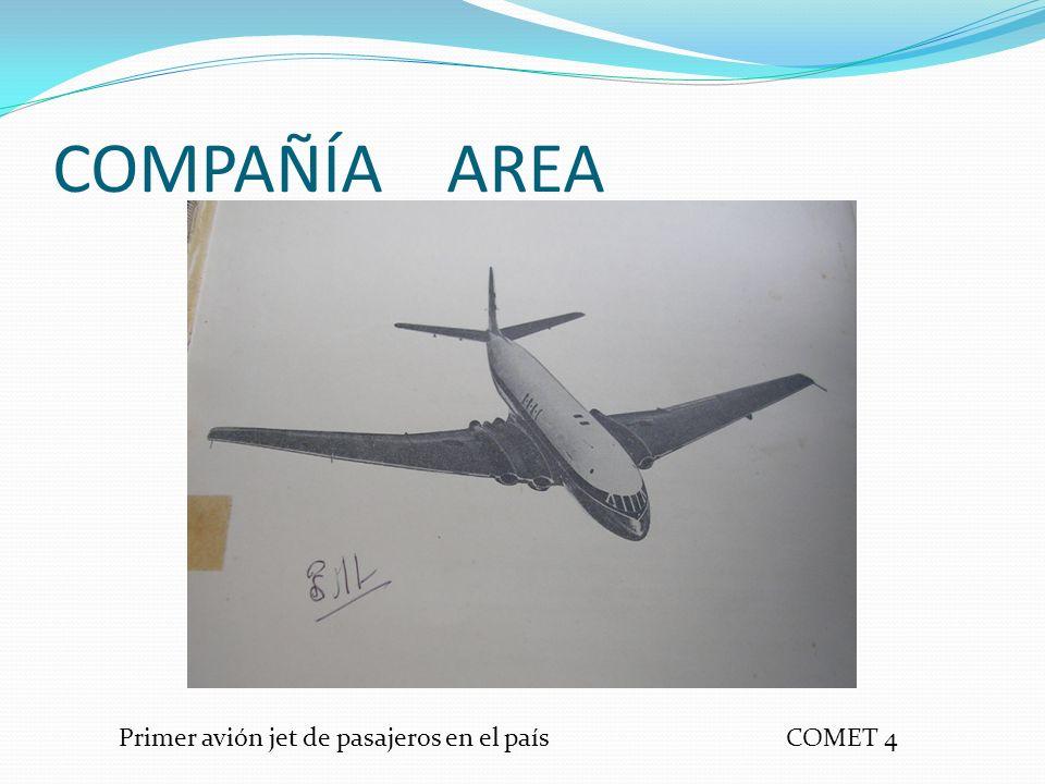 COMPAÑÍA AREA COMET 4Primer avión jet de pasajeros en el país