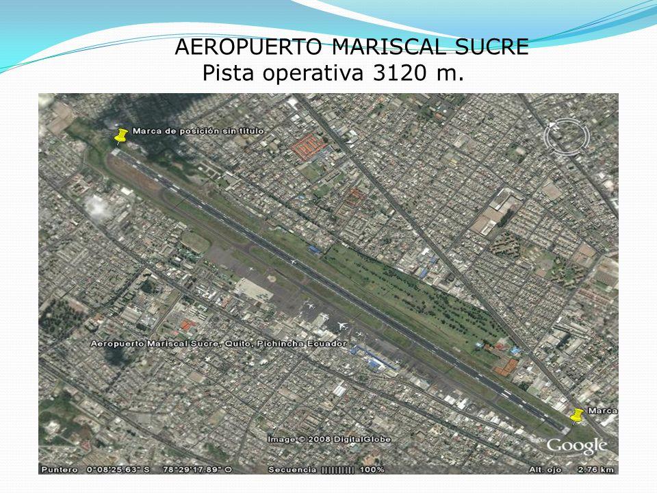 AEROPUERTO MARISCAL SUCRE Pista operativa 3120 m.