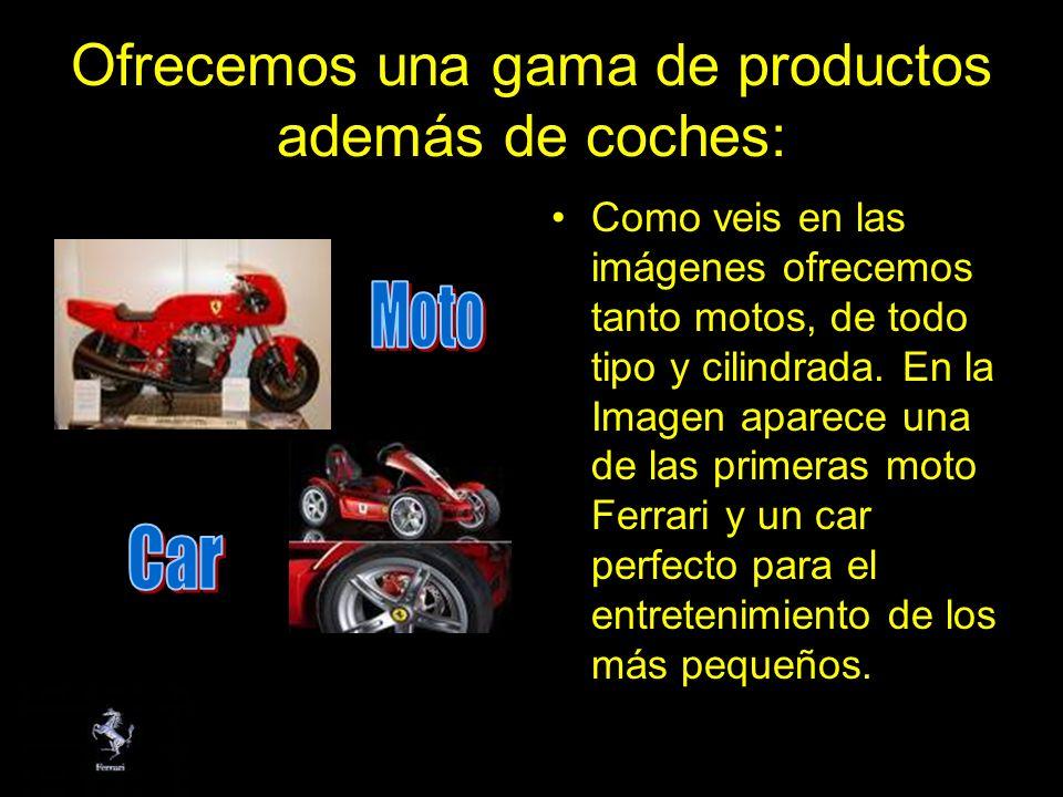 Ofrecemos una gama de productos además de coches: Como veis en las imágenes ofrecemos tanto motos, de todo tipo y cilindrada. En la Imagen aparece una
