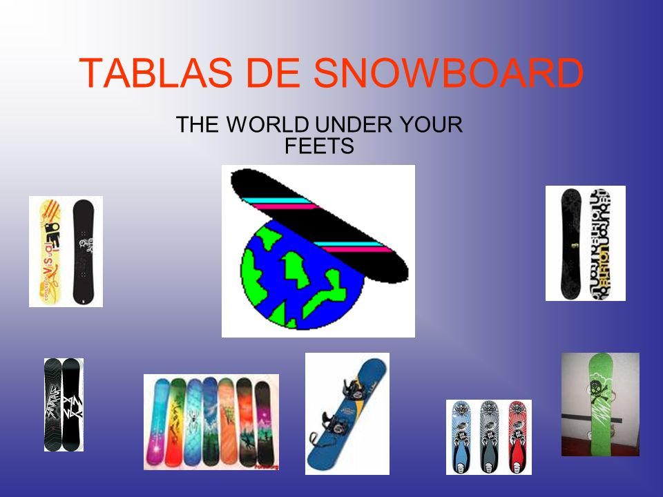 TABLAS DE SNOWBOARD THE WORLD UNDER YOUR FEETS
