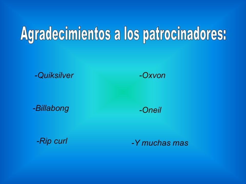 -Quiksilver -Billabong -Rip curl -Oxvon -Oneil -Y muchas mas