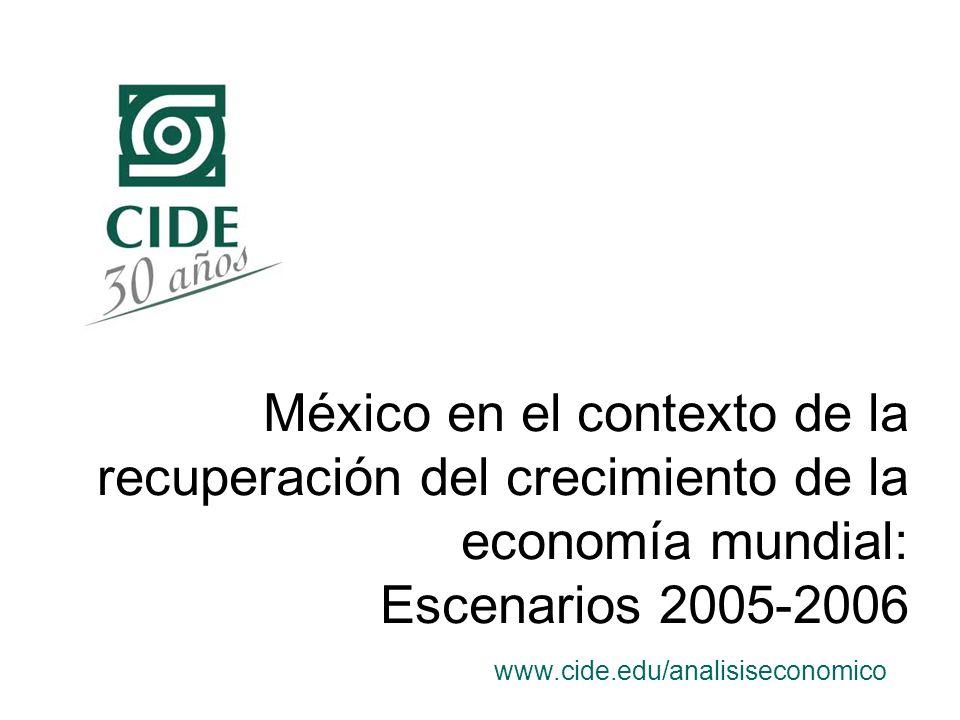 México en el contexto de la recuperación del crecimiento de la economía mundial: Escenarios 2005-2006 www.cide.edu/analisiseconomico