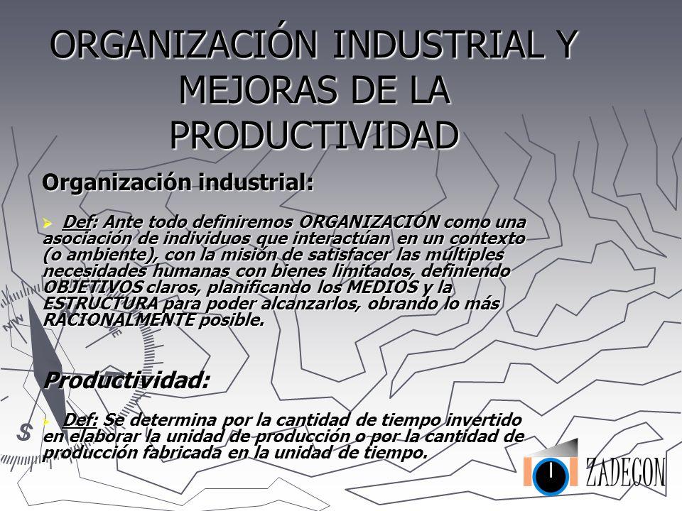 ORGANIZACIÓN INDUSTRIAL Y MEJORAS DE LA PRODUCTIVIDAD CONOZCA Y REDUZCA SUS COSTES Y PLAZOS DE FABRICACIÓN