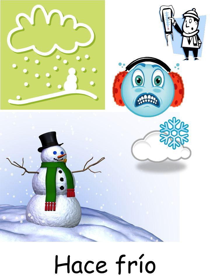 El tiempo: Está nublado Está nevando Está lloviendo Hace mal tiempo La tormenta