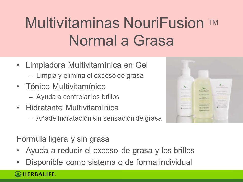 Multivitaminas NouriFusion TM Normal a Grasa Limpiadora Multivitamínica en Gel –Limpia y elimina el exceso de grasa Tónico Multivitamínico –Ayuda a co