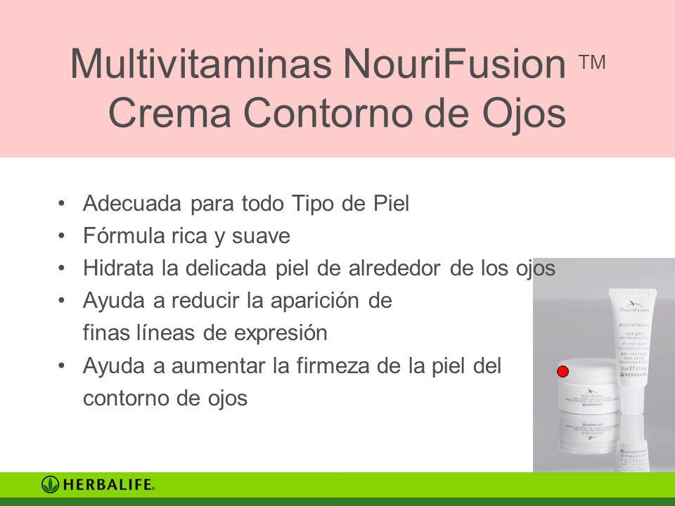 Multivitaminas NouriFusion TM Crema Contorno de Ojos Adecuada para todo Tipo de Piel Fórmula rica y suave Hidrata la delicada piel de alrededor de los