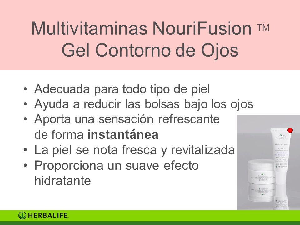 Multivitaminas NouriFusion TM Gel Contorno de Ojos Adecuada para todo tipo de piel Ayuda a reducir las bolsas bajo los ojos Aporta una sensación refre