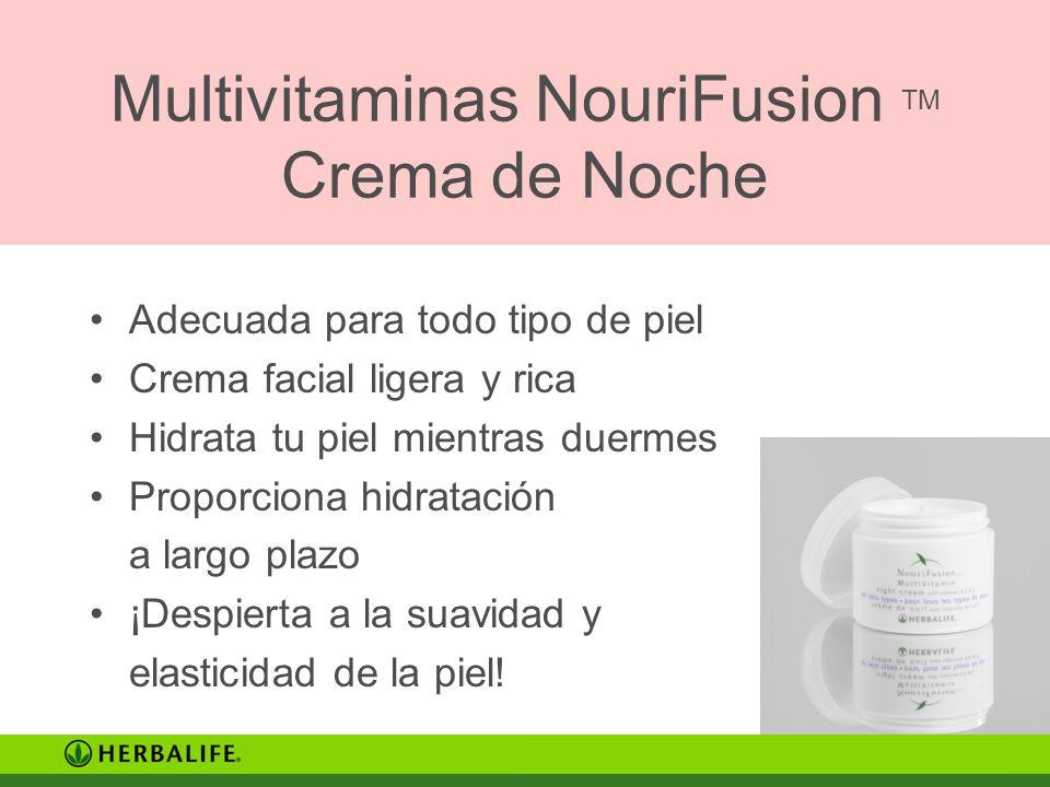 Multivitaminas NouriFusion TM Crema de Noche Adecuada para todo tipo de piel Crema facial ligera y rica Hidrata tu piel mientras duermes Proporciona h