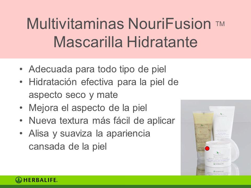 Multivitaminas NouriFusion TM Mascarilla Hidratante Adecuada para todo tipo de piel Hidratación efectiva para la piel de aspecto seco y mate Mejora el