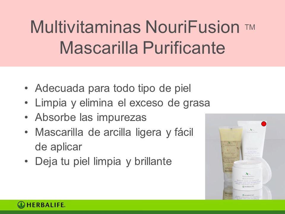 Multivitaminas NouriFusion TM Mascarilla Purificante Adecuada para todo tipo de piel Limpia y elimina el exceso de grasa Absorbe las impurezas Mascari