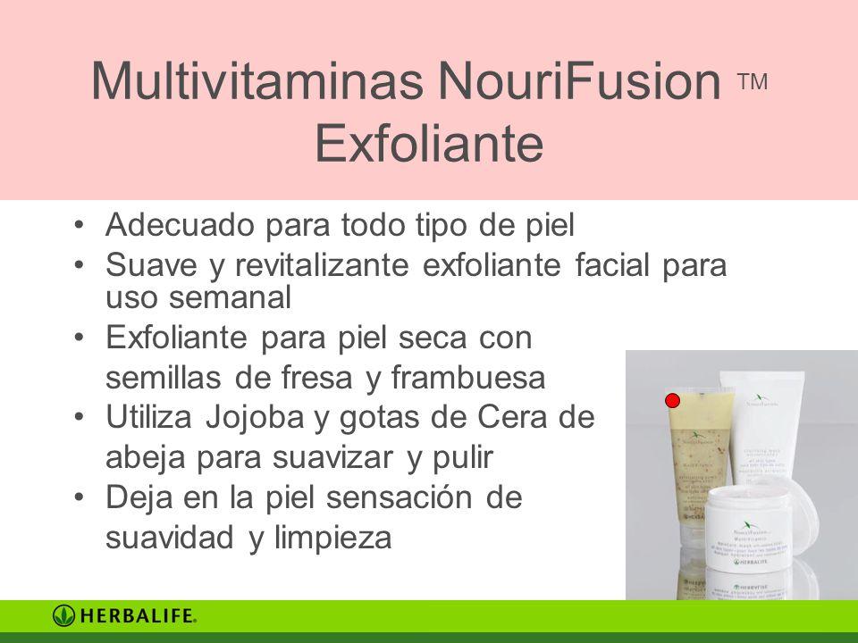 Multivitaminas NouriFusion TM Exfoliante Adecuado para todo tipo de piel Suave y revitalizante exfoliante facial para uso semanal Exfoliante para piel