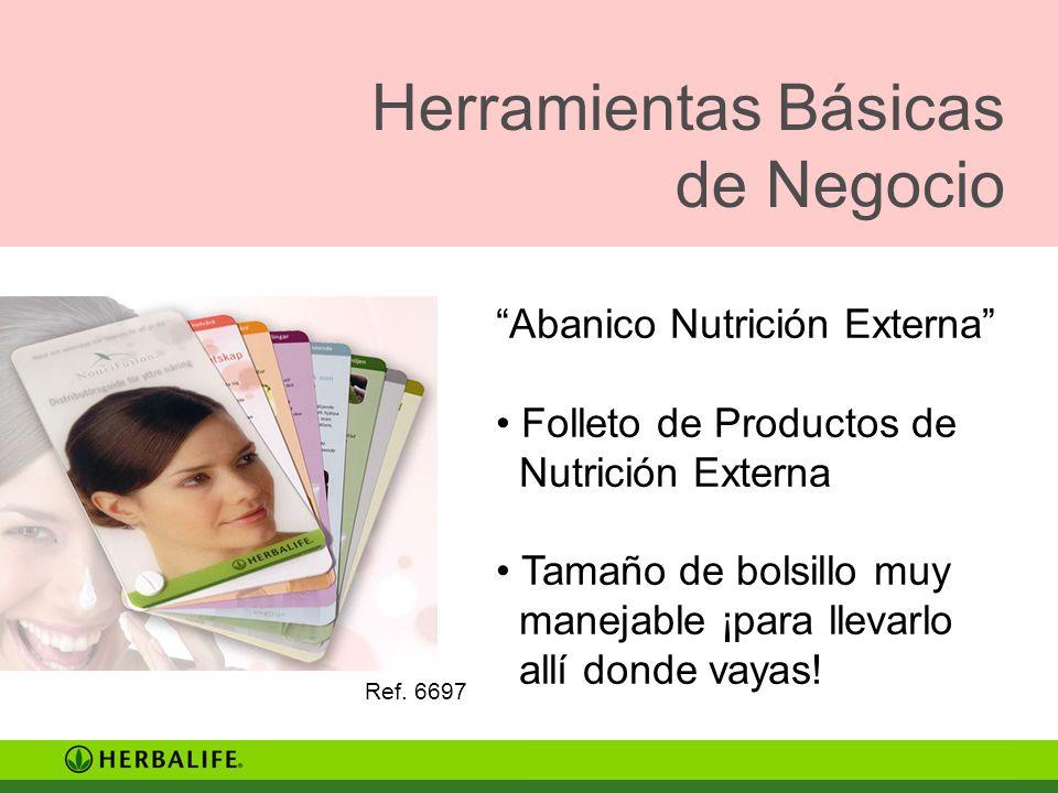 Herramientas Básicas de Negocio Ref. 6697 Abanico Nutrición Externa Folleto de Productos de Nutrición Externa Tamaño de bolsillo muy manejable ¡para l