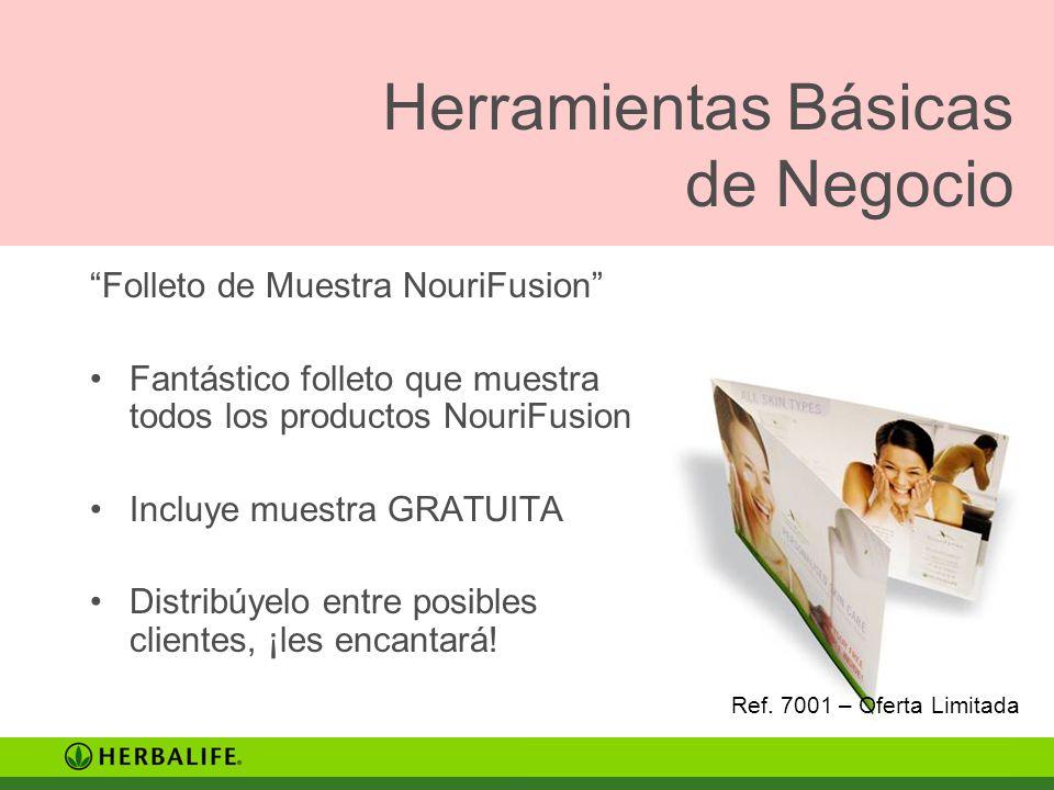 Folleto de Muestra NouriFusion Fantástico folleto que muestra todos los productos NouriFusion Incluye muestra GRATUITA Distribúyelo entre posibles cli