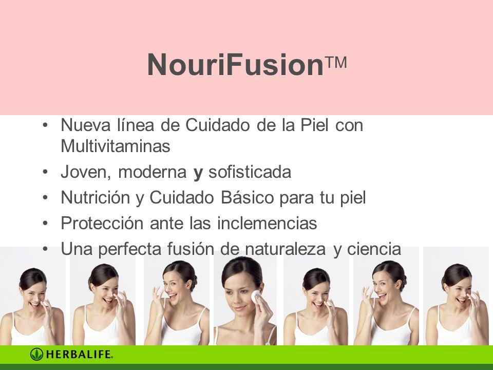 NouriFusion TM Nueva línea de Cuidado de la Piel con Multivitaminas Joven, moderna y sofisticada Nutrición y Cuidado Básico para tu piel Protección an