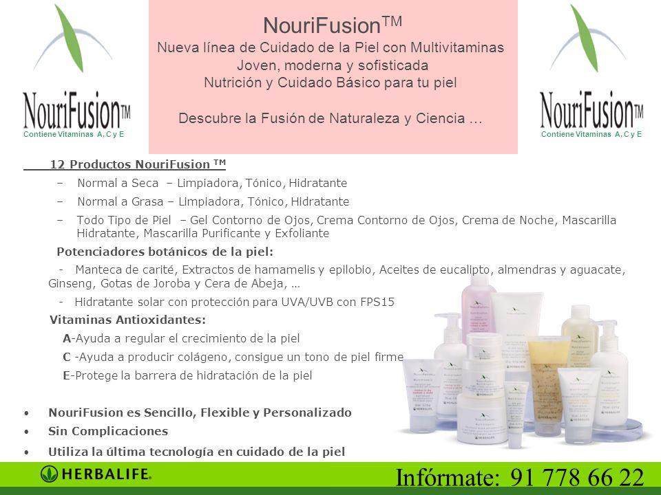 NouriFusion TM Nueva línea de Cuidado de la Piel con Multivitaminas Joven, moderna y sofisticada Nutrición y Cuidado Básico para tu piel Descubre la F