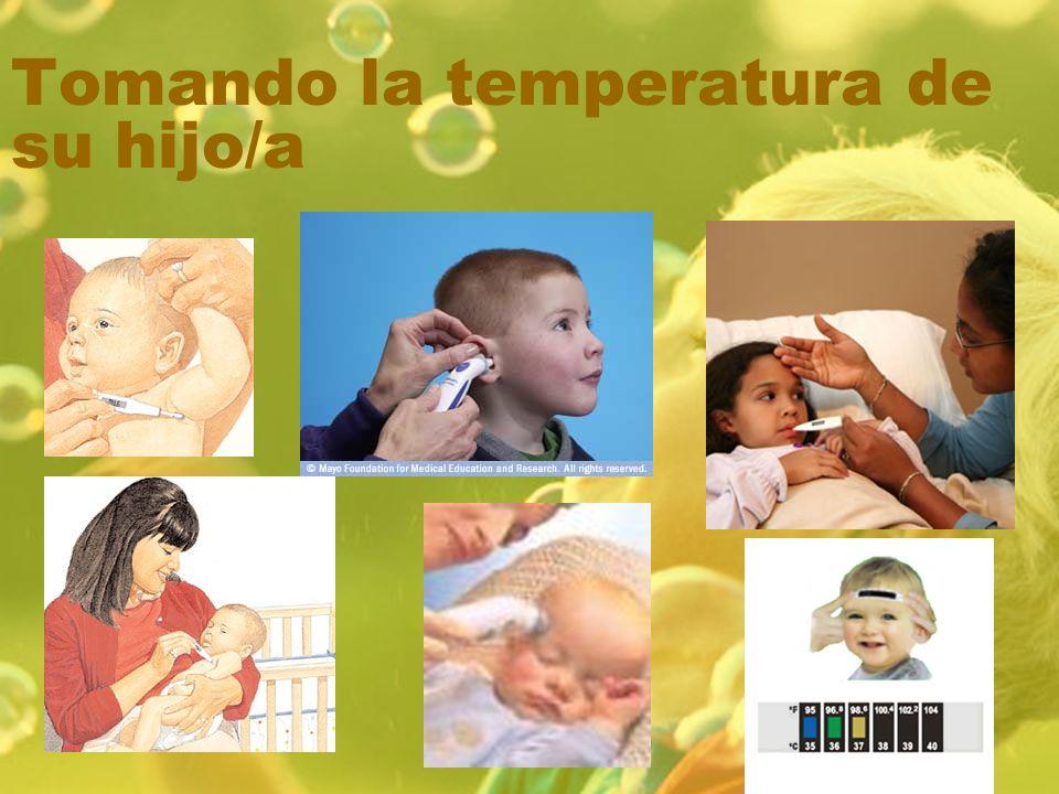 Tomando la temperatura de su hijo/a