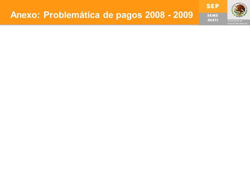 Anexo: Problemática de pagos 2008 - 2009