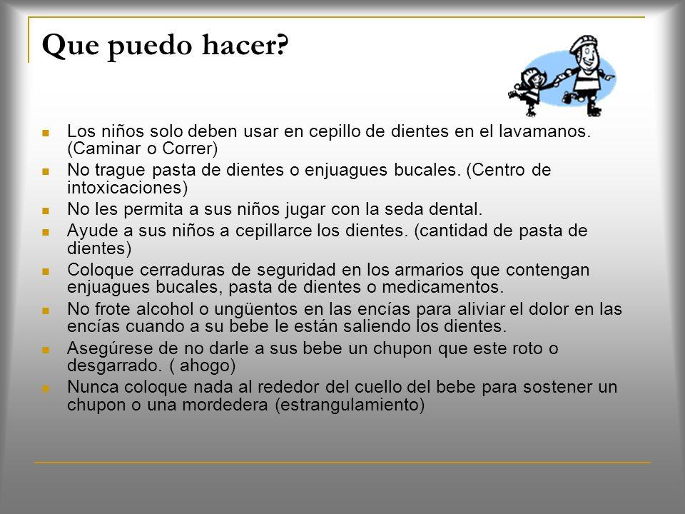 Consejos de seguridad (Pág. 2) Algunos consejos de seguridad le ayudaran a mantener su boca, dientes y encías sanas. Usted puede lastimar sus dientes