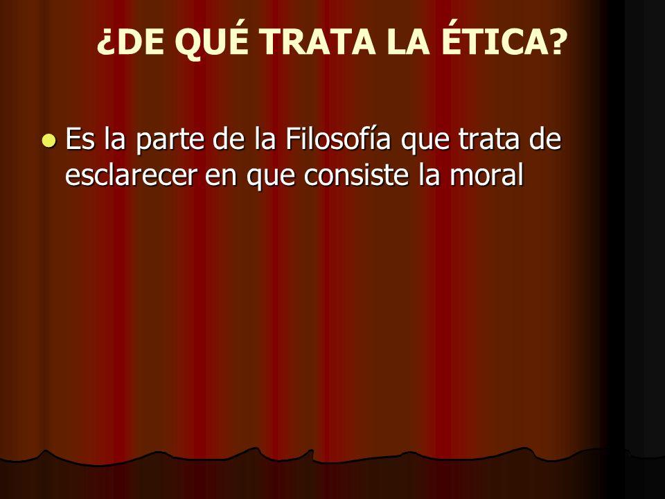 I.- El Término Moral.