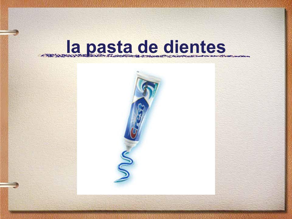lavarse los dientes con el cepillo de dientes Ella se lava los dientes con el cepillo de dientes.
