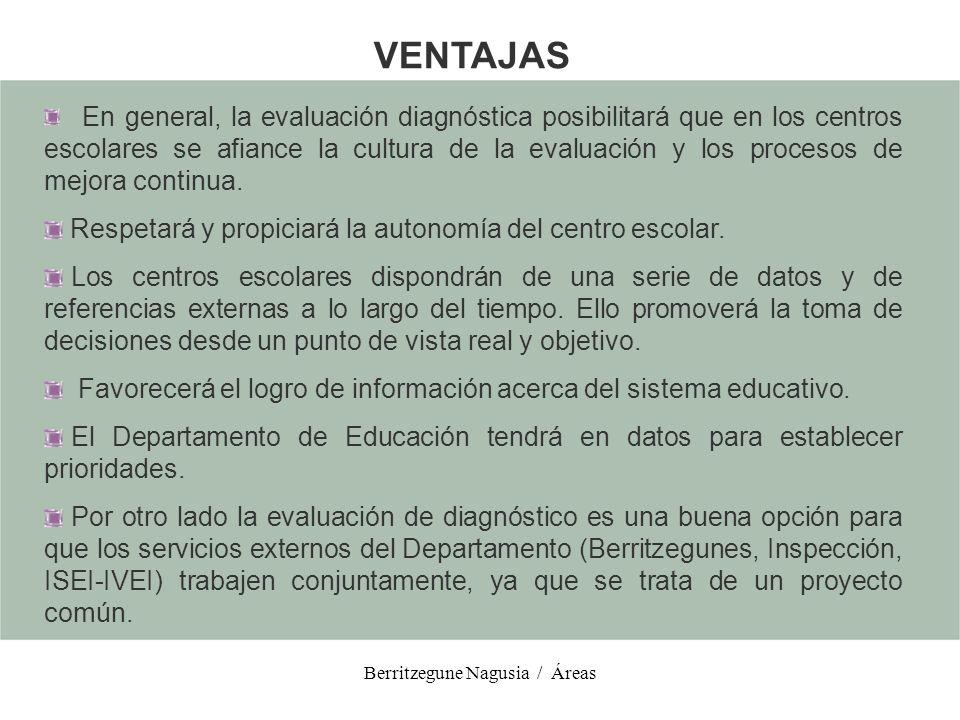 Berritzegune Nagusia / Áreas Homogeneizar el currículo y reducirlo.