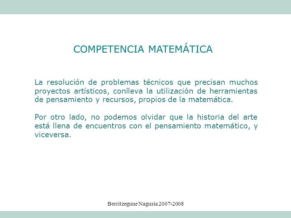 Berritzegune Nagusia 2007-2008 La resolución de problemas técnicos que precisan muchos proyectos artísticos, conlleva la utilización de herramientas d